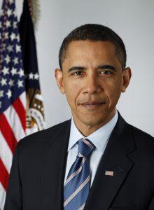 """תמונת הנשיא לשעבר ברק אובמה של ארה""""ב"""